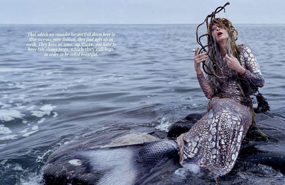 Sereiando: Kristen McMenamy para W Magazine. - Pêssega D'Oro