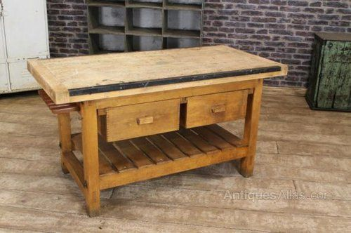 Excellent Antiques Atlas Vintage Kitchen Island Work Bench Table Machost Co Dining Chair Design Ideas Machostcouk