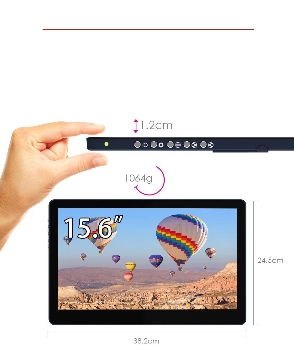 Gechic On Lap 1503i 15 6 Inch Portable Touchscreen Monitor Portable