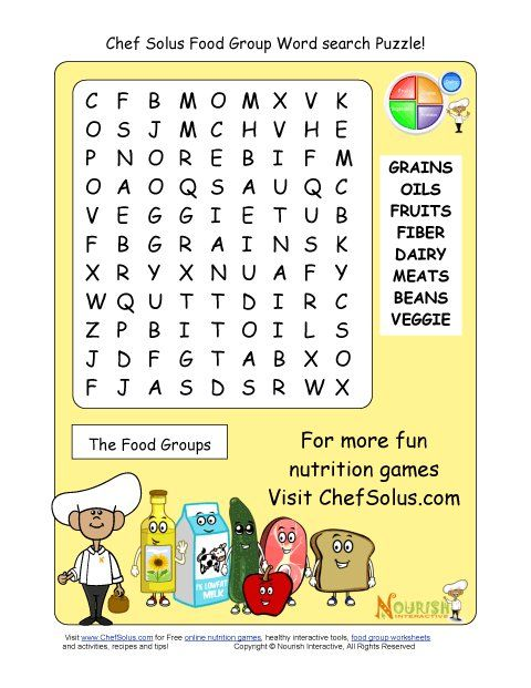 word healthy groups puzzles health printable puzzle nutrition eating words games worksheets heart snacks grade cooking children nourishinteractive letters science