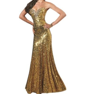 Great Gatsby Long Evening Dresses Gold Prom Dress For A Themed