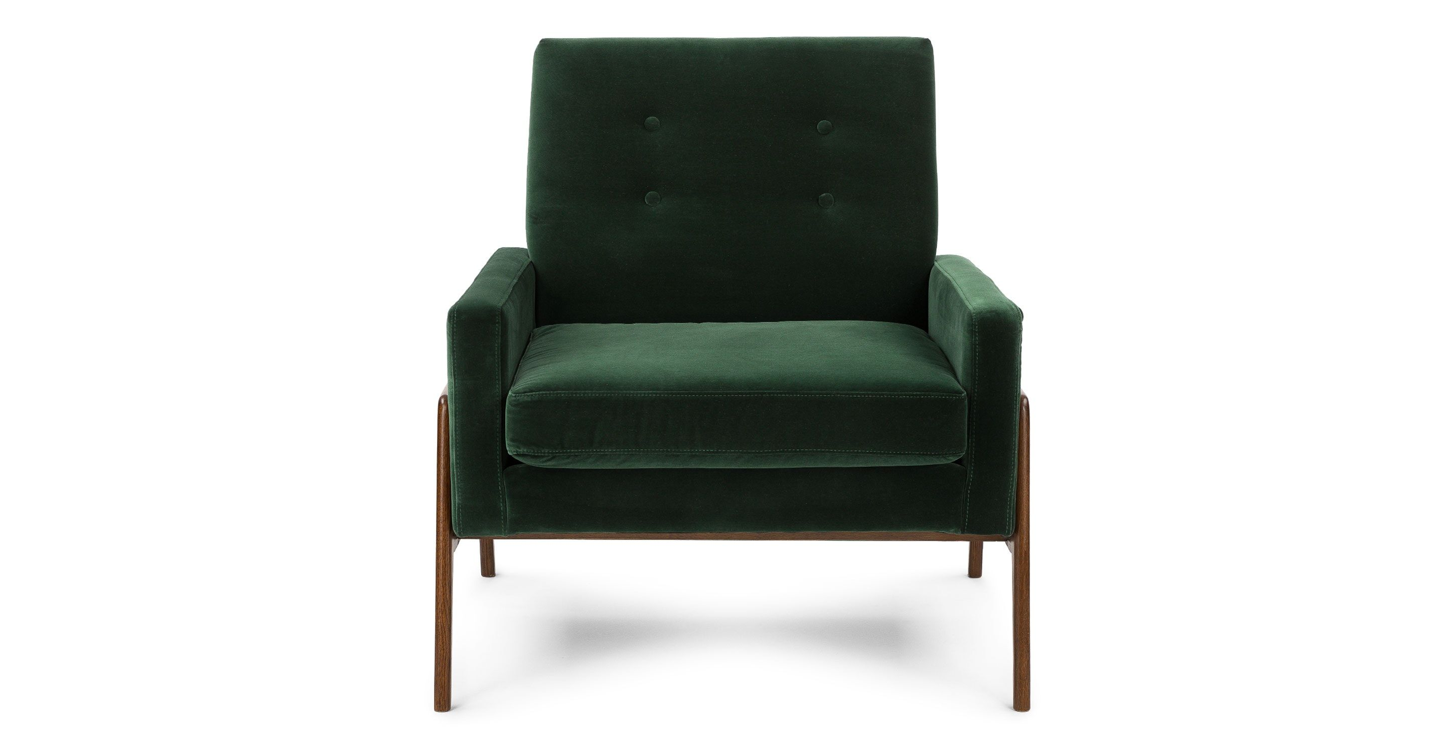 green accent armchair in fabric article nord balsam modern