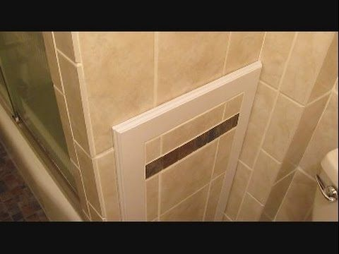 Ceramic tile access panel for bathtub plumbing - YouTube ...