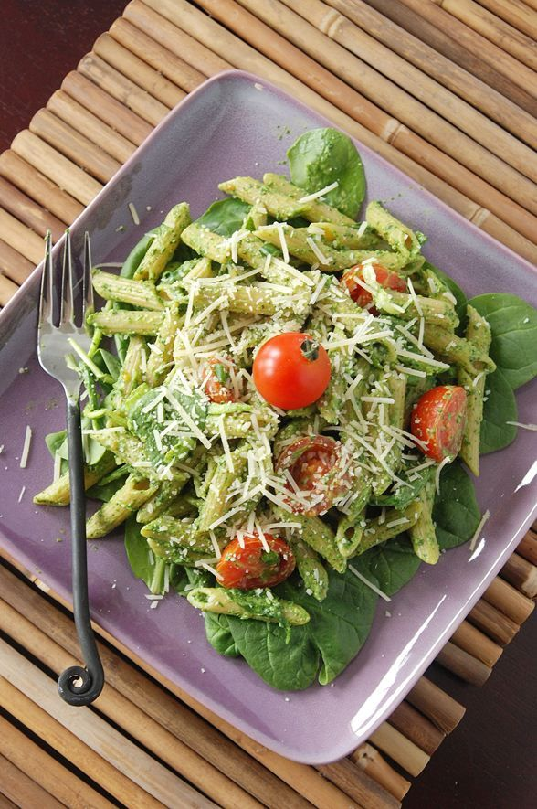 Spinach Pesto Penne by the novicechefblog #Pasta #Spinach #Pesto #thenovicechefblog