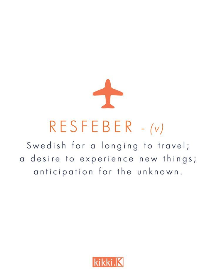Resfeber One Of Our Favourite Swedish Words Tattoo Trave