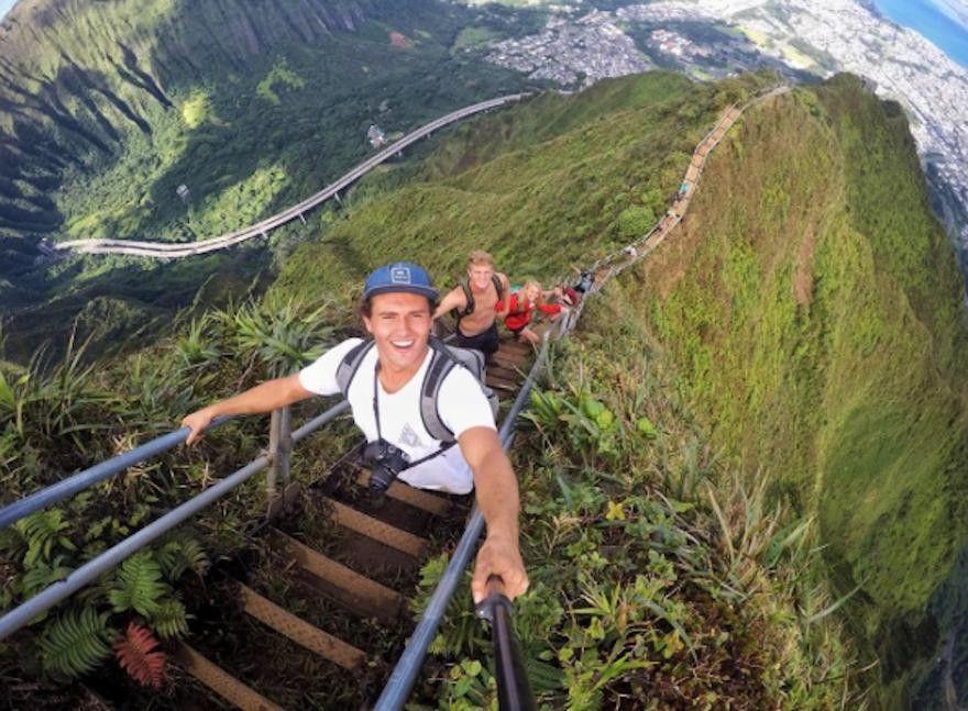 La ruta más peligrosa y asombrosa de hawái, la escalera al cielo ...