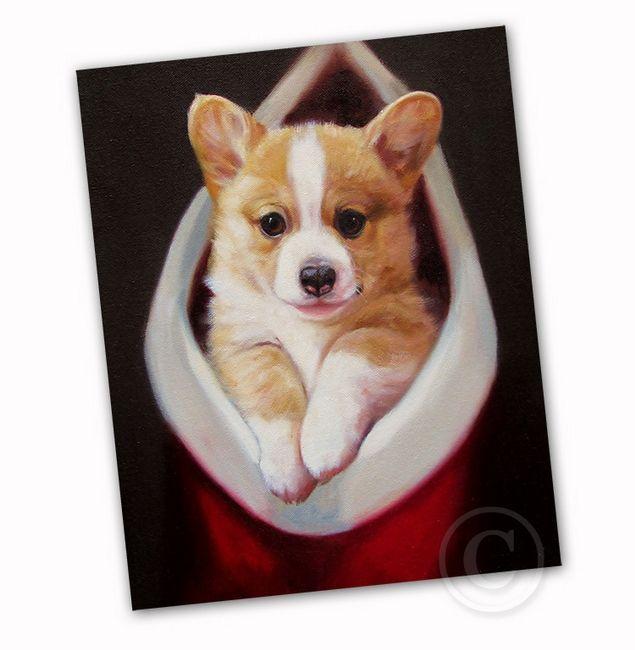 Corgi Puppy Christmas Card By Ja Crawford The Cutest Holiday