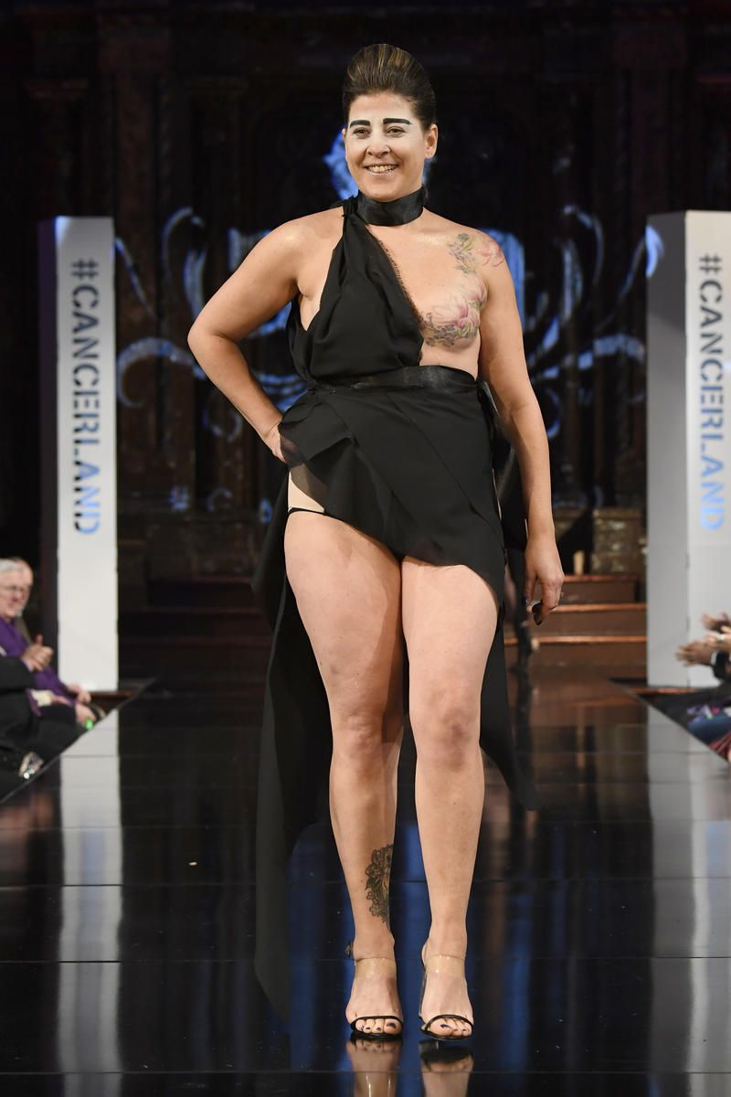 497b36ede2 Shape covering the show with  Cancerland at New York Fashion Week.   breastcancer
