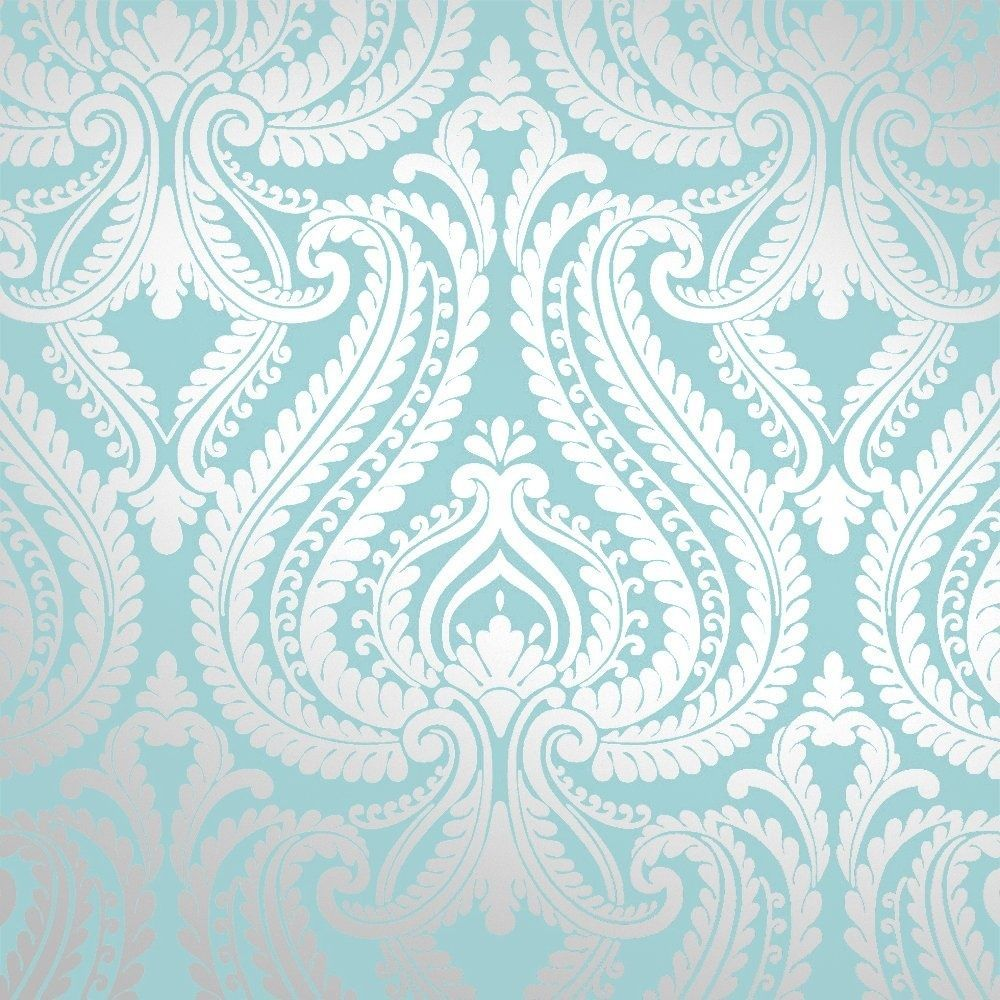 Details About I Love Wallpaper Shimmer Metallic Damask Wallpaper