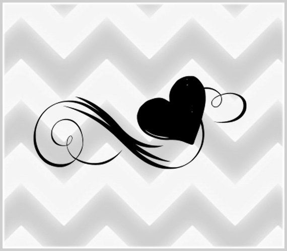 Corazón set de tatuajes temporales tatuaje falso infinito