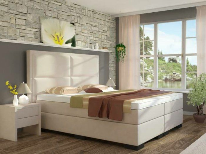 boxspringbett otto in weiß | schlafzimmer ideen, Schlafzimmer design