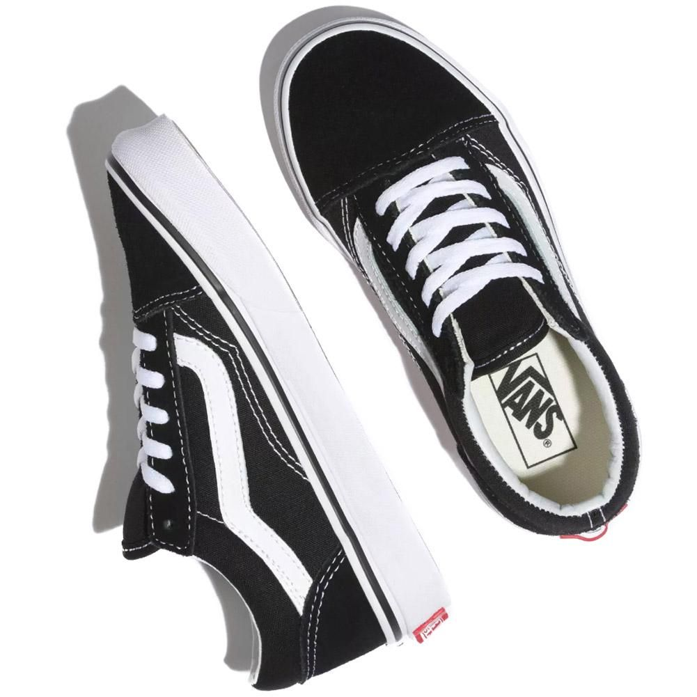 Vans Kids Old Skool Skate Shoes BlackTrue White in 2020