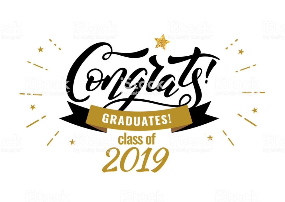 Congrats Graduates Class Of 2019 Graduation Party Icon With Gold Congratulations Graduate Class Of 2019 Graduation Message