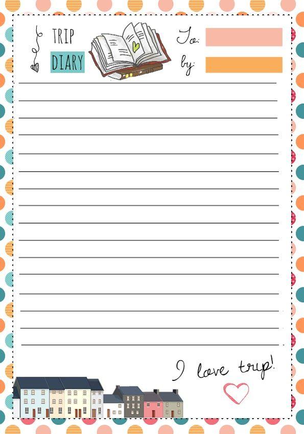 Pin by Alexandra Ali on Envelopes \ Stationary Pinterest - diary paper printable