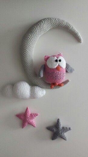Móvil amigurumi. De Ovillos de Lena | Movil crochet amigurumi ...