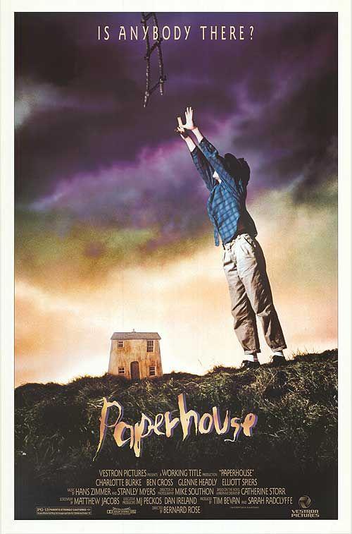 Paperhouse 1988 film   Movie posters, Film, Fantasy films