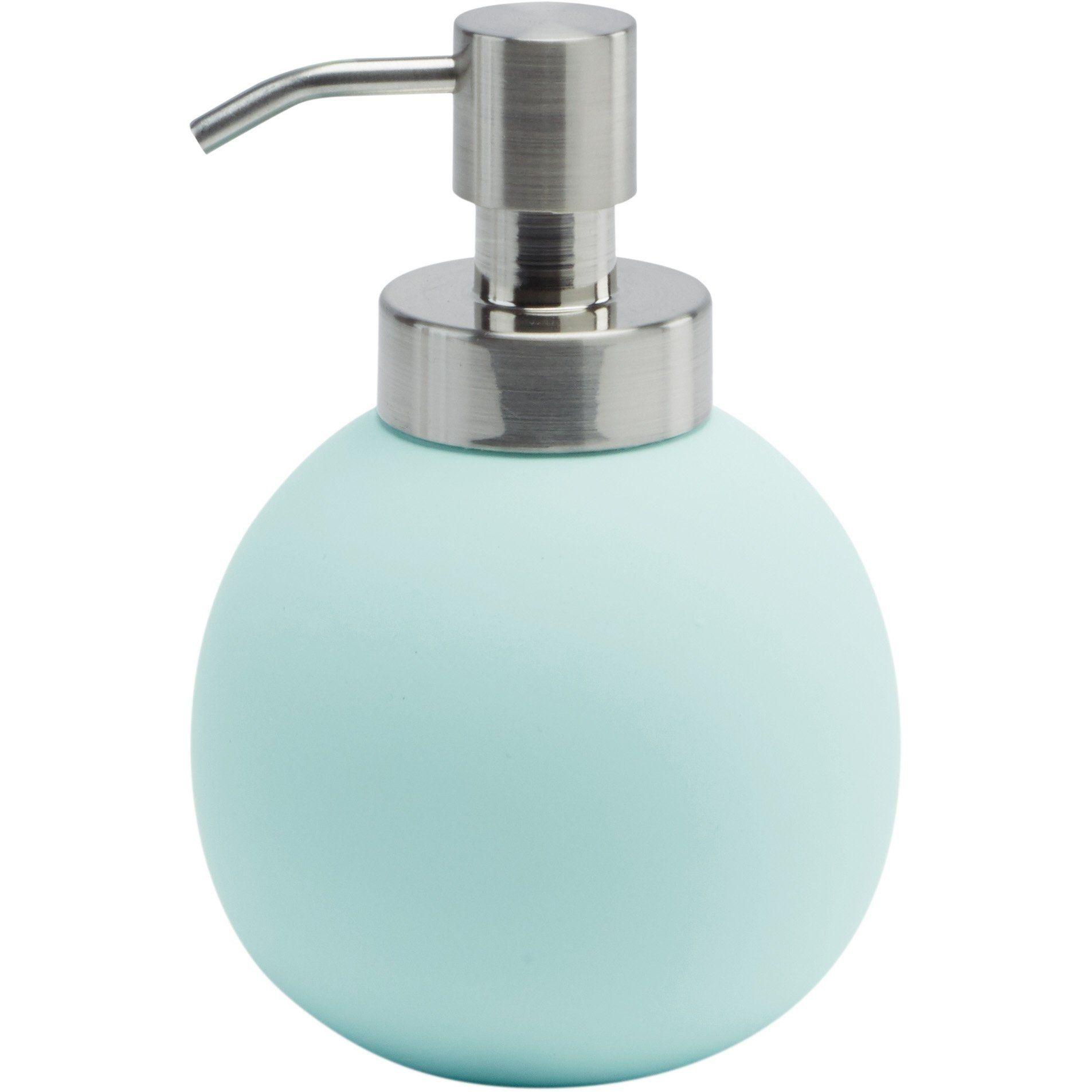 Cleo Compact Round Bath or Kitchen Pump Liquid Soap Lotion Dispenser ...