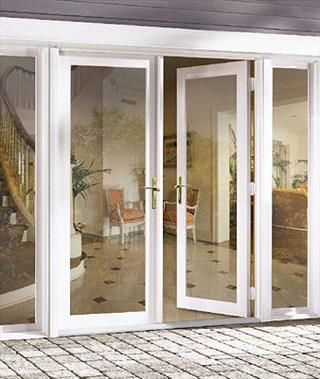Hinged patio doors are an alternative to the sliding glass for Outside sliding glass doors
