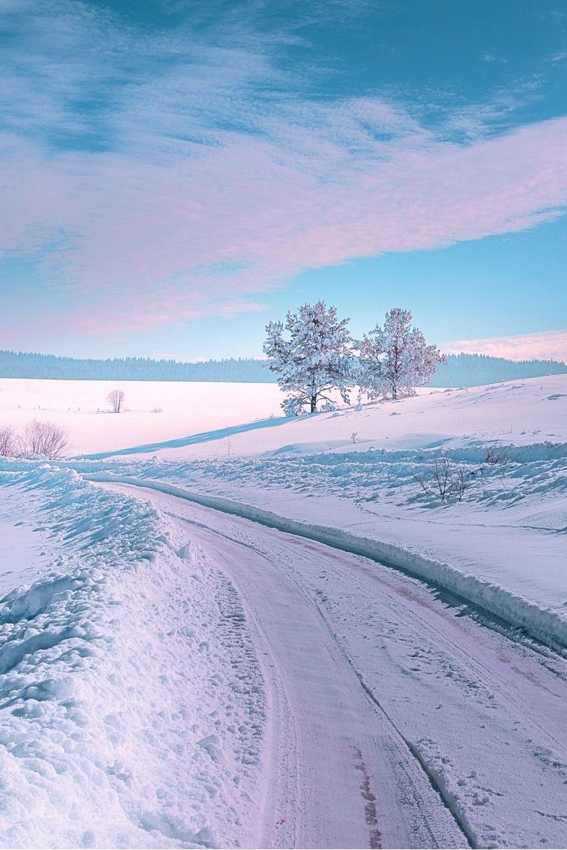 Wanderlust Photography Sundxwn Winter Road By Mevludin Sejmenovic Winter Landscape Winter Scenery Winter Scenes