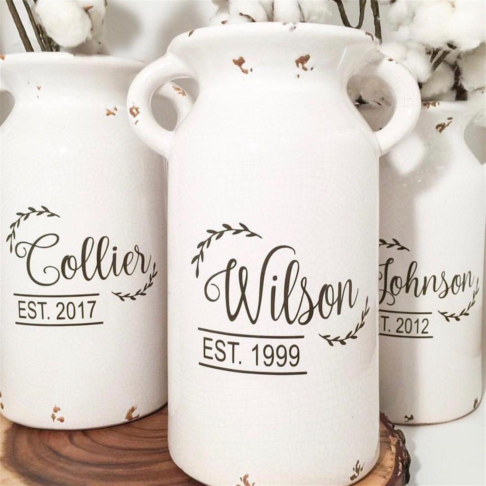 Personalized Ceramic Milk Jug Milk jug, Milk cans