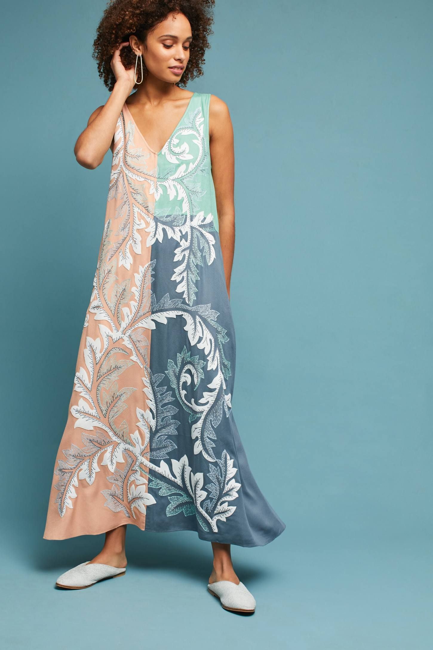 1122d491d6a11 Shop the Embroidered Colorblocked Maxi Dress and more Anthropologie at  Anthropologie today. Read customer reviews, discover product details and  more.