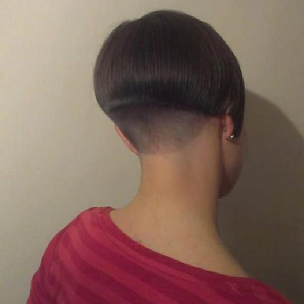 Shaved nape hair