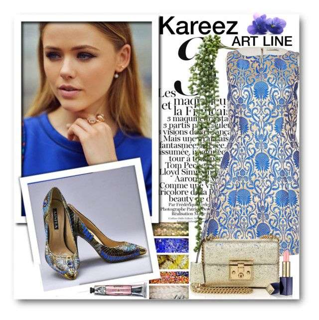 """""""Kareez ART LINE 1"""" by fashionmonsters ❤ liked on Polyvore featuring Alice + Olivia, Gucci, Estée Lauder and Soap & Paper Factory"""