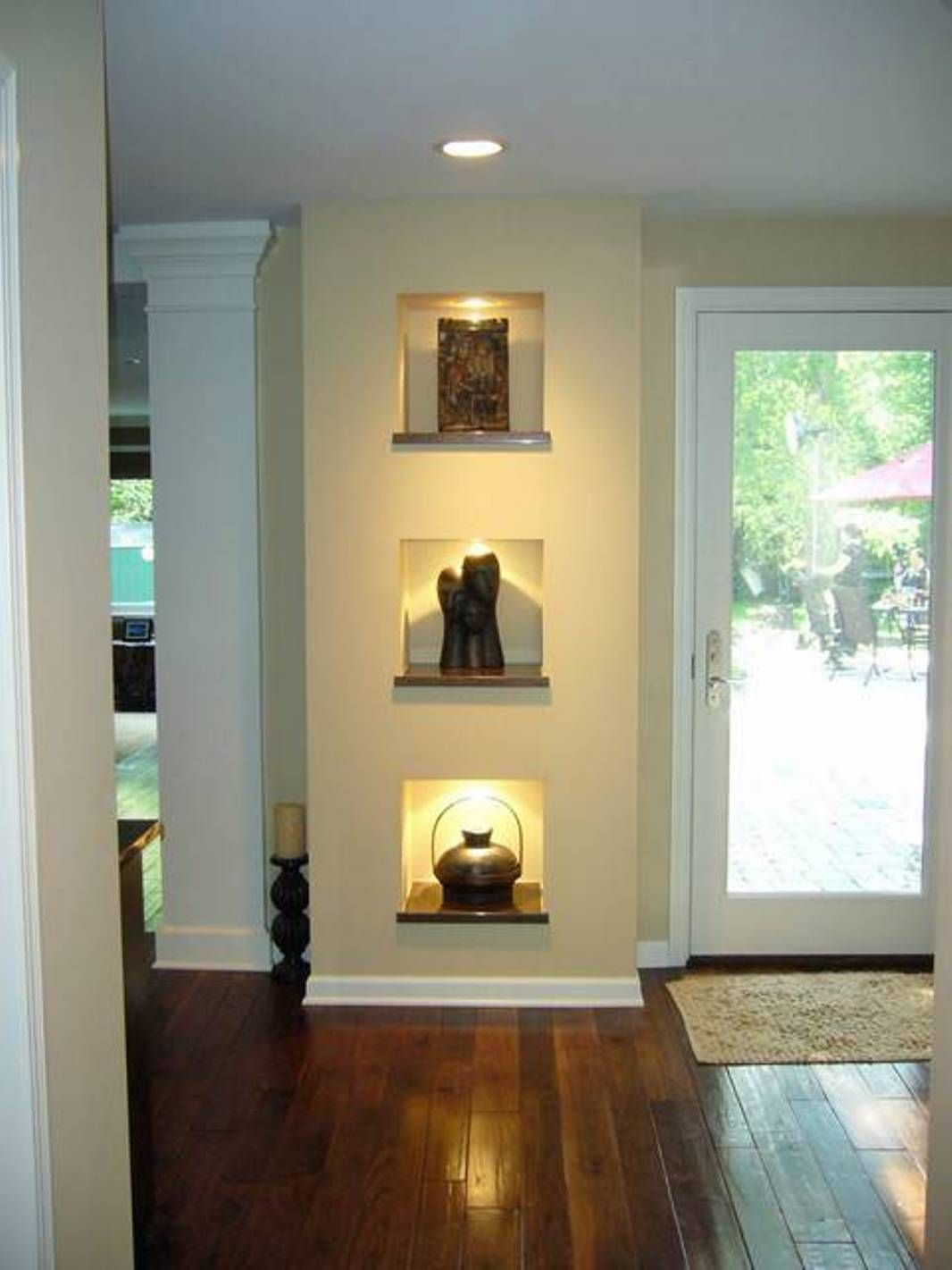 Square Wall Niche with wood | For the Home | Pinterest | Squares ...