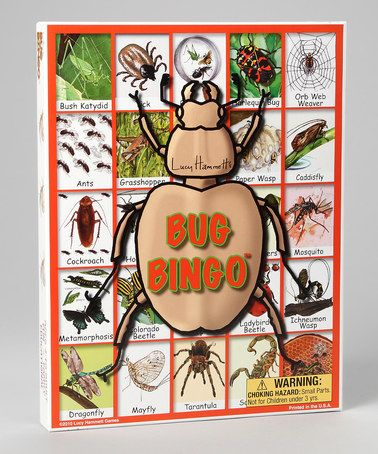 Loving this Bug Bingo Game on #zulily! #zulilyfinds