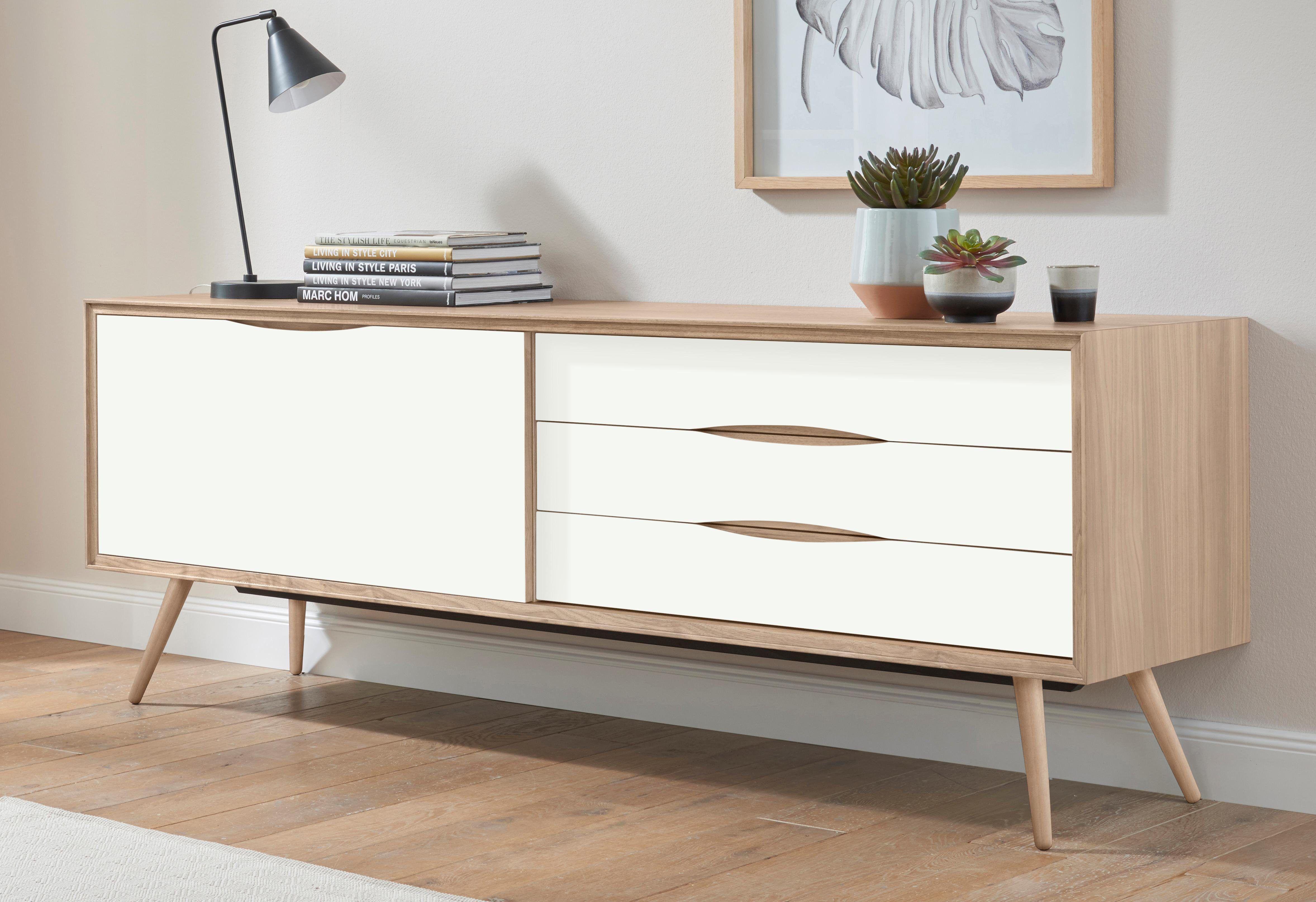 Highboard Wohnzimmer ~ Andas sideboard »stick« weiß soft close funktion jetzt bestellen