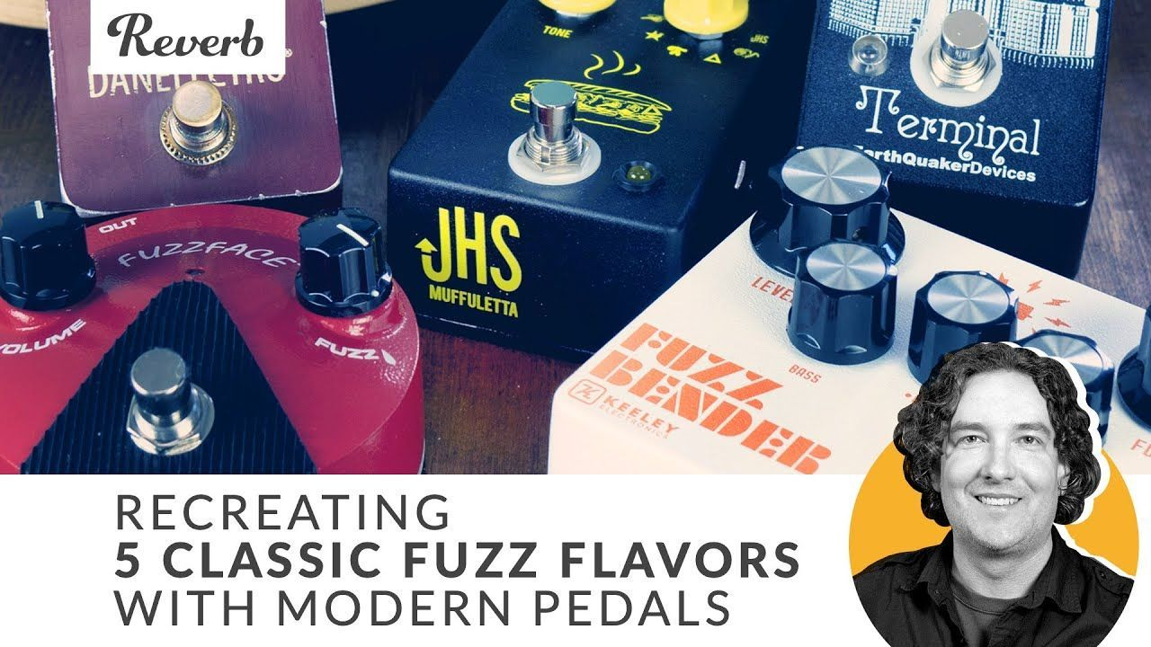 Recreating 5 Classic Fuzz Flavors with Modern Guitar Pedals via Reverb.com (YouTube) #guitarpedals Recreating 5 Classic Fuzz Flavors with Modern Guitar Pedals via Reverb.com (YouTube) #guitarpedals