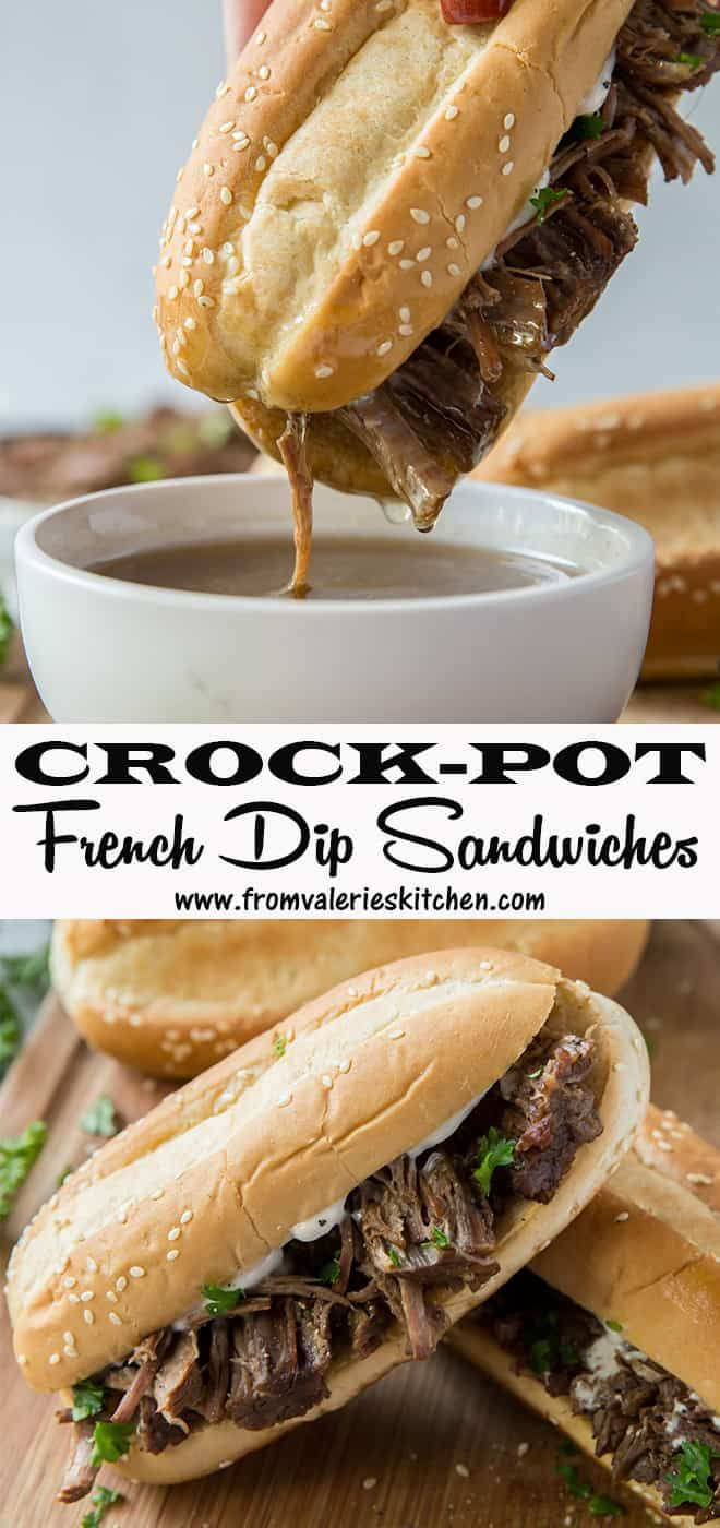 Crock-Pot French Dip Sandwiches with Creamy Horseradish Spread