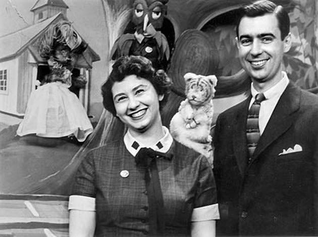 Mr Mrs Fred Rogers Sara Joanne Byrd Queen Sara Of The Land Of Make Believe Was Named After His Wife Fred Rogers Mr Rogers Mister Rogers Neighborhood
