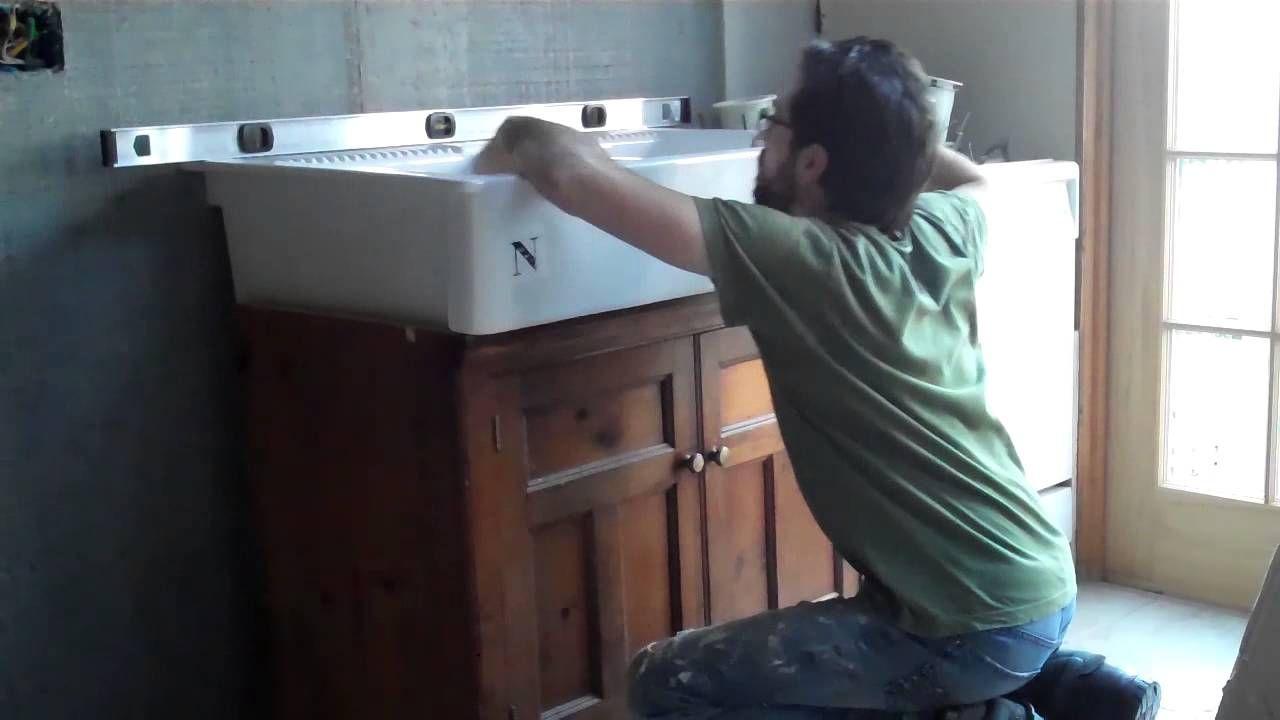 DOMSJO Sink Installation Video Farm Sink Ikea