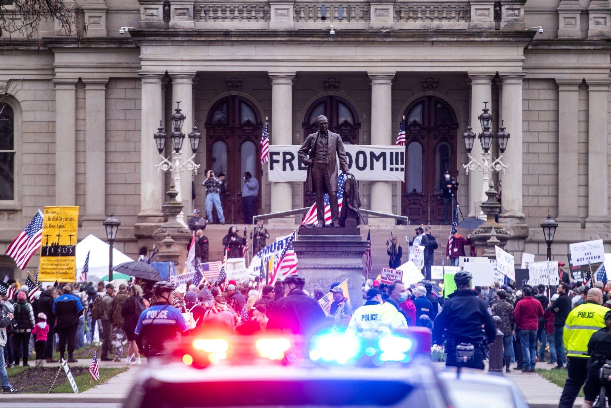 Michigan Statehouse Protests May 1 2020 Michigan Landmarks Travel