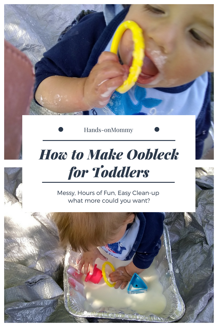 How To Make Oobleck For A Toddler How To Make Oobleck Infant Activities Toddler