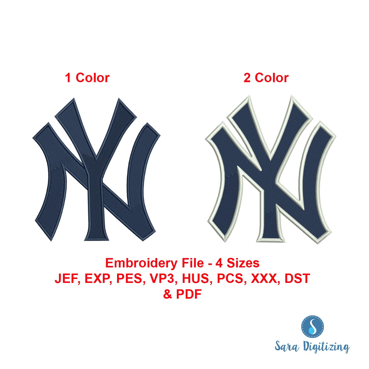 Ny Yankees Logo Machine Embroidery Design New York Yankees Etsy In 2020 New York Yankees Logo Ny Yankees Logo Yankees Logo