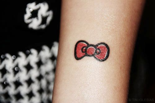 Small Hello Kitty Hello Kitty Tattoos Bow Tattoo Hello Kitty Bow