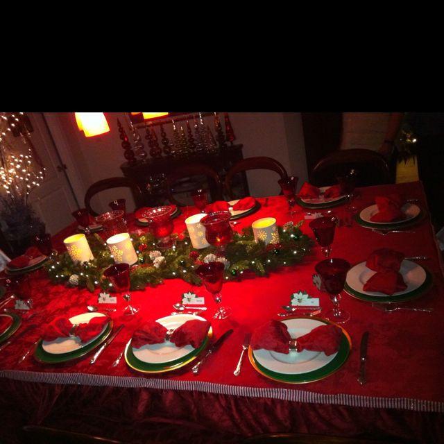 Christmas Eve Dinner Table Christmas Table Decorations Christmas Home Christmas Decorations