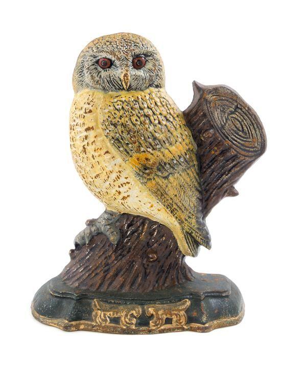 A Cast Iron Owl Doorstop