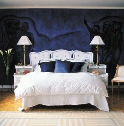 Dark Blue And White Bedroom google image result for http://free.bridal-shower-themes/img