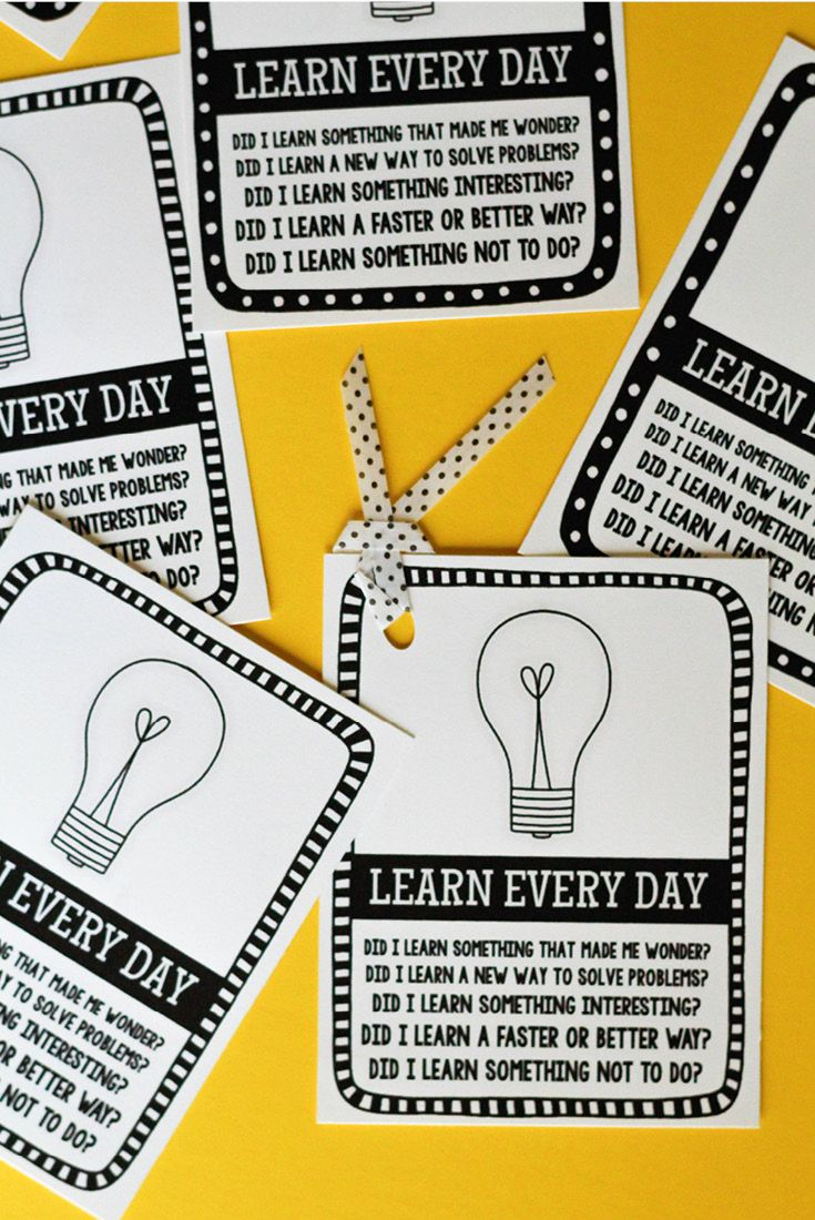 Free printable bookmarks: A little reminder to learn something new every day!