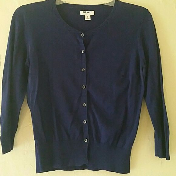 Old Navy ladies sweater Blue nice button up sweater Old Navy ...