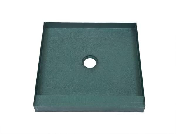 The KBRS 32in X 32in Center Drain Tile Basin Brand Shower Pan Is Sturdy