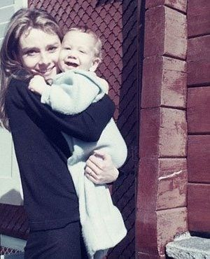 Audrey and her son