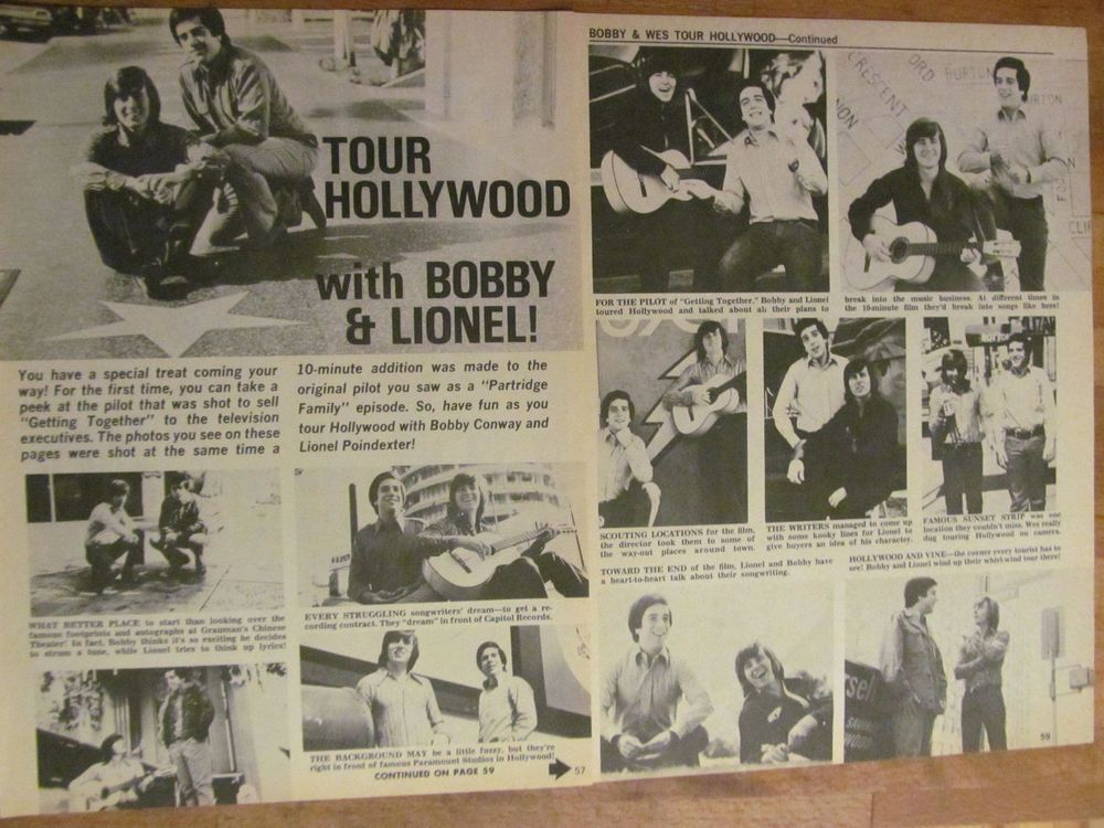 Bobby Sherman, Two Page Vintage Clipping