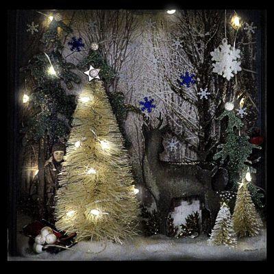 Christmas Shadow Box Class By Ann Kerr Christmas Shadow Boxes Shadow Box Christmas