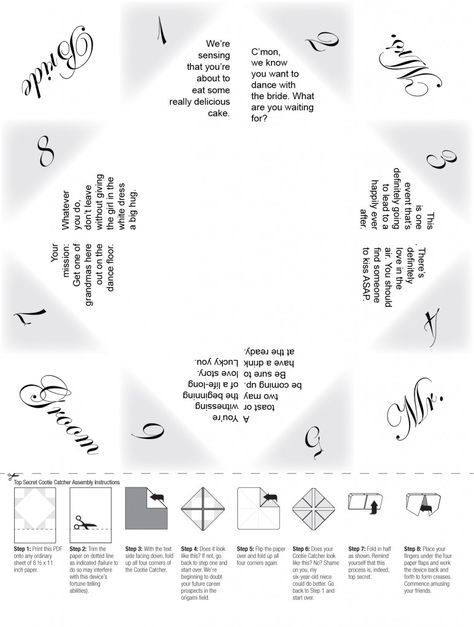 Wedding cootie catcher with cute prompts - love it! Home decor