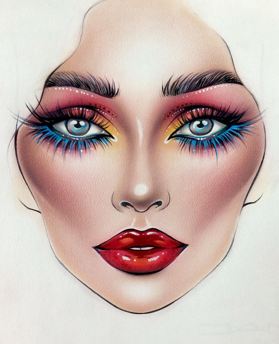 Via Instagram Makeup face charts, Makeup artist quotes
