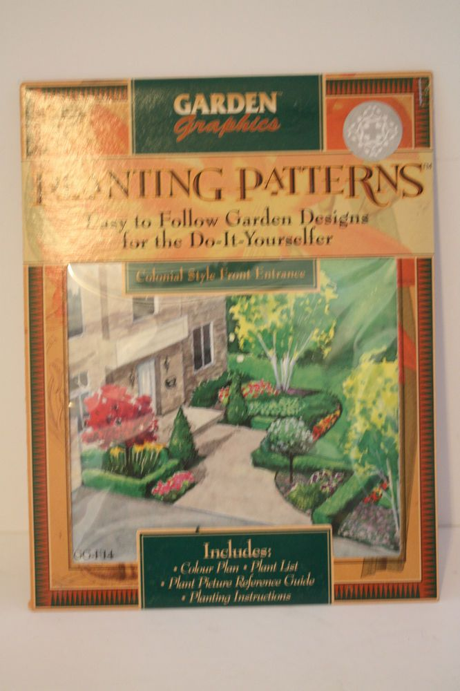 Planting Patterns Design Colonial Style Front Entrance Plans List Instructions #GardenGraphics